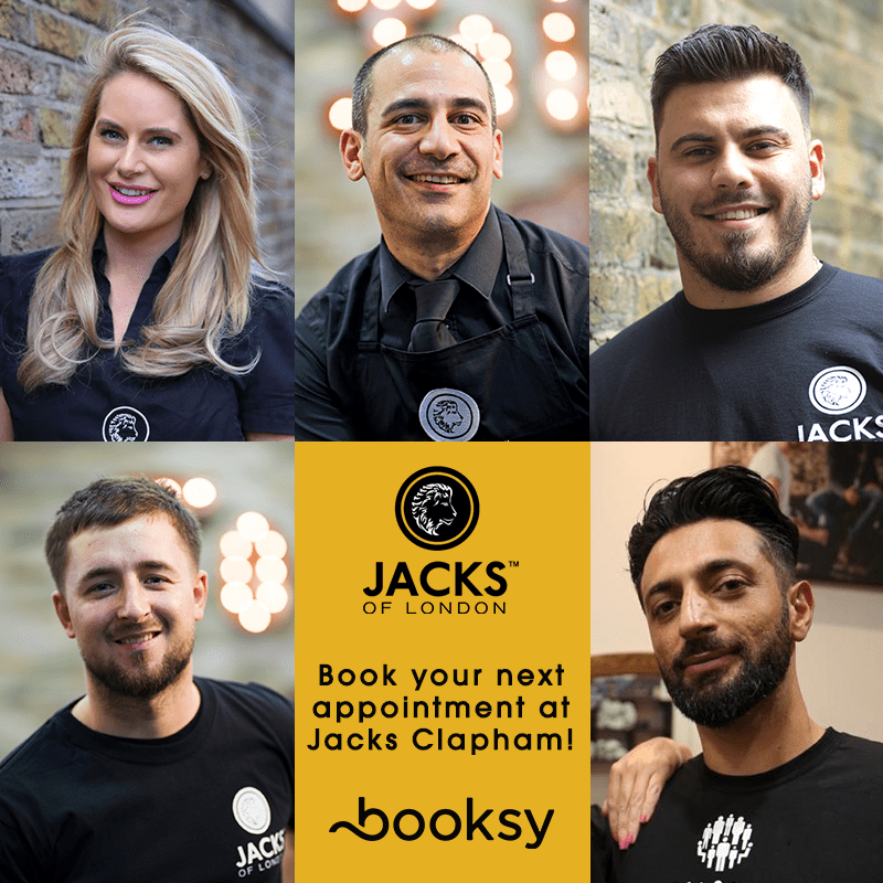BOOK  YOUR NEXT APPOINTMENT <span>AT JACKS CLAPHAM JUNCTION</span>