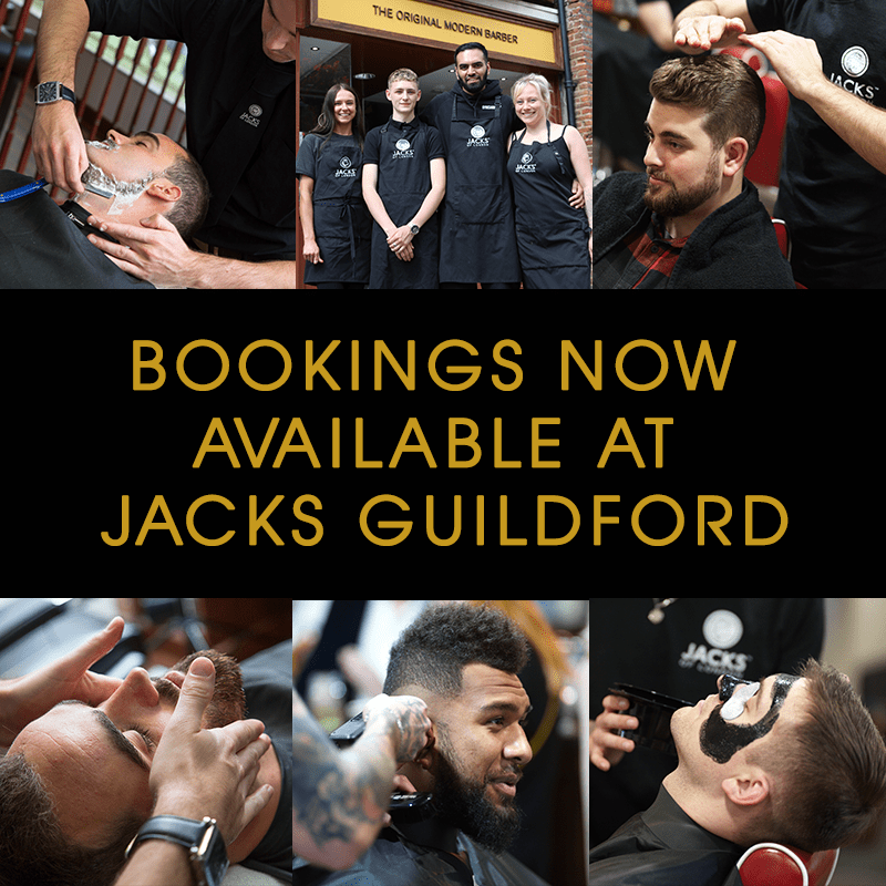 BOOK YOUR NEXT APPOINTMENT <span>AT JACKS GUILDFORD</span>