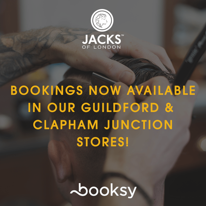 BOOK YOUR NEXT APPOINTMENT <span>AT JACKS GUILDFORD & CLAPHAM JUNCTION</span>